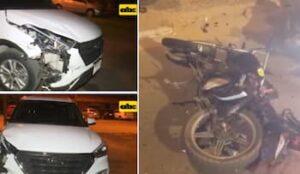 バイクと自動車の事故