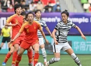 韓国と中国の女子選手