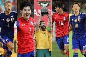 日本代表と韓国代表