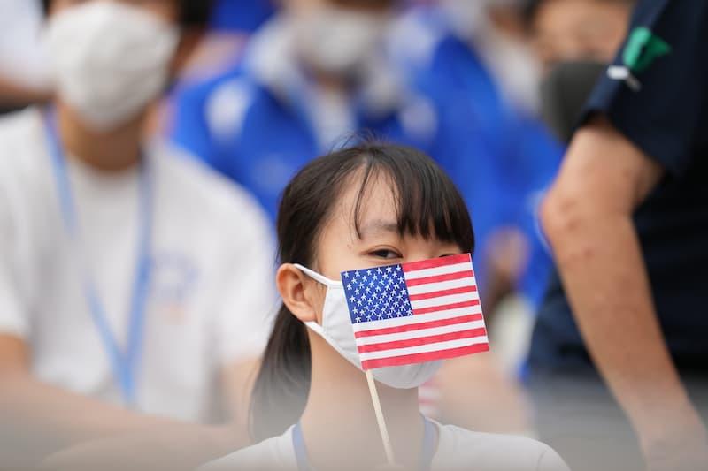 アメリカを応援する日本の学生1