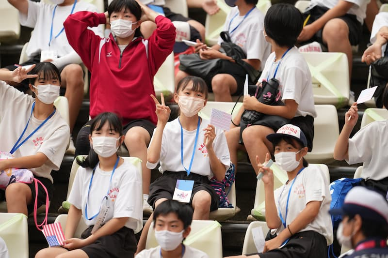 アメリカを応援する日本の学生3